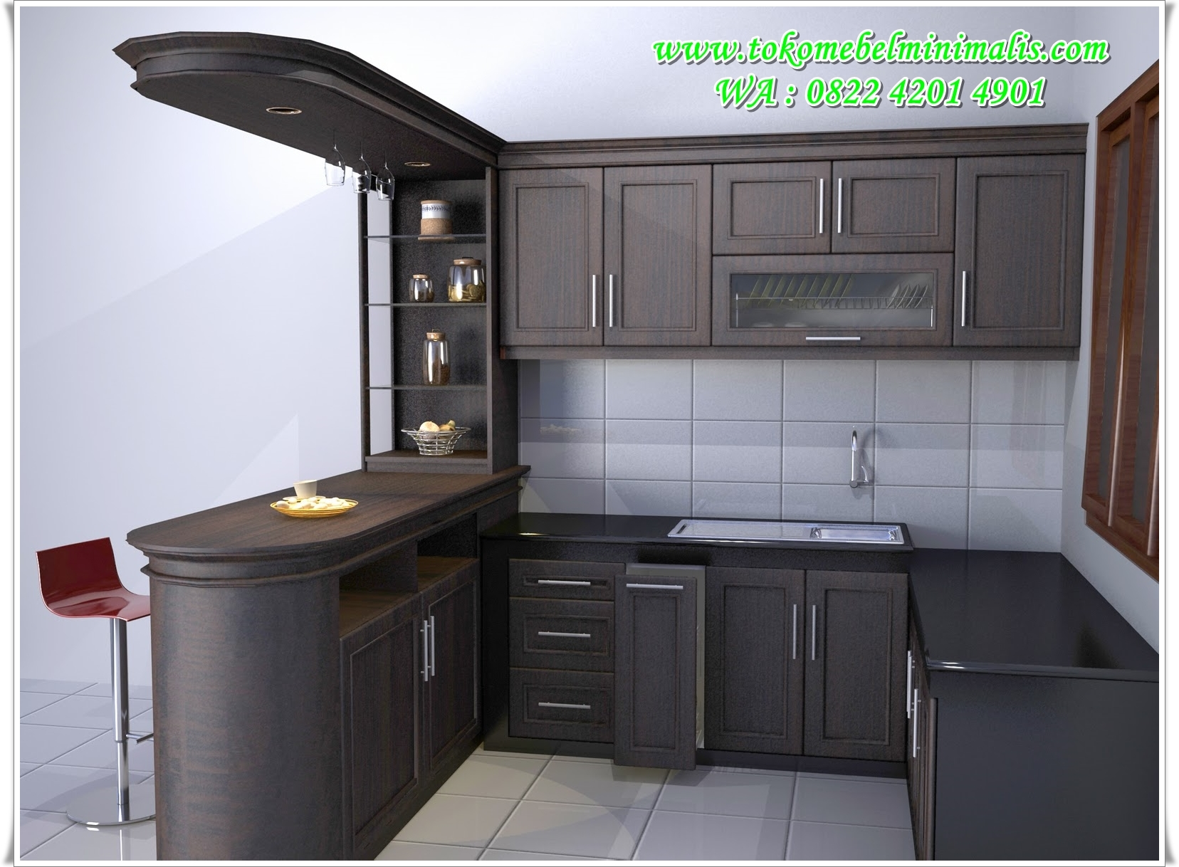 Desain kitchen set toko mebel minimalis fruniture for Kitchen minimalis