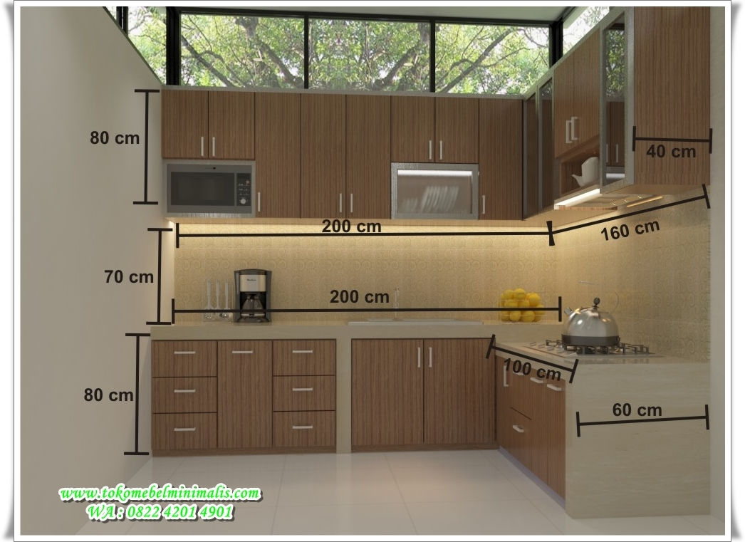 Kitchen set minimalis murah toko mebel minimalis toko for Harga kitchen set aluminium per meter
